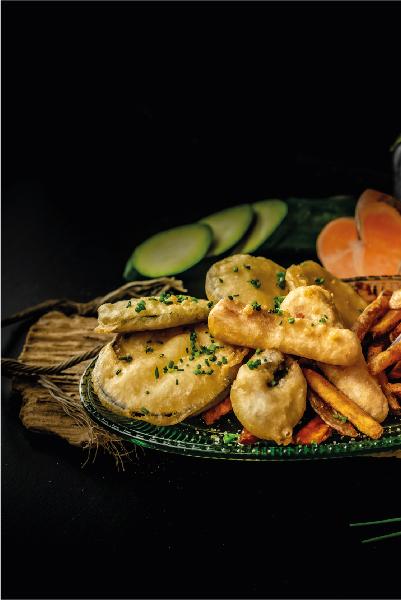veggies and chips legumes en tempura