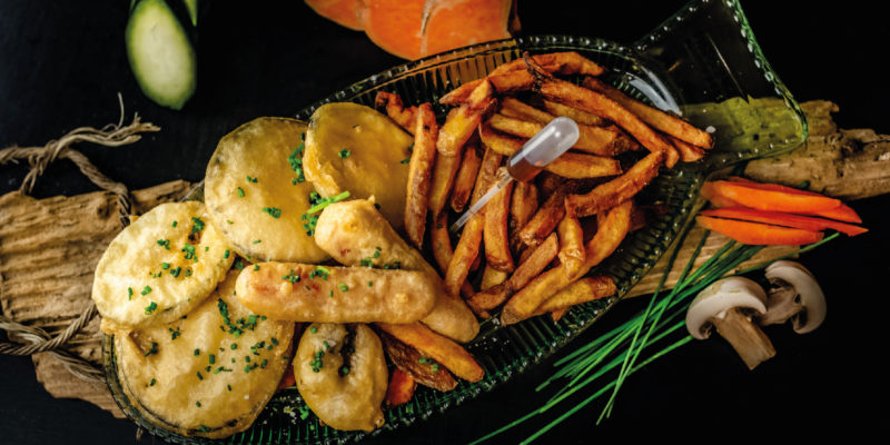 veggies and chips